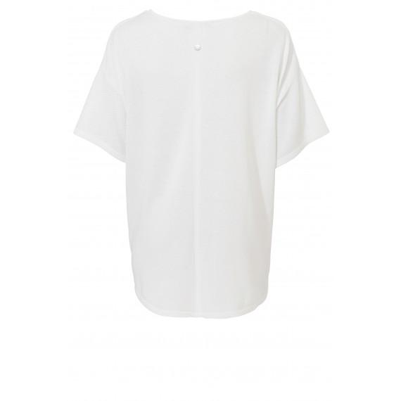 Einfarbiger Kurzarm-Pullover /