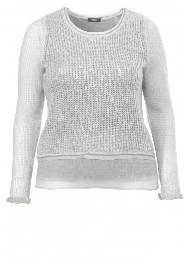 "Raffinierter Strickpullover ""Two-in-One-Optik"" /"