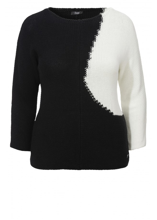 "Kontrast-Pullover ""Black-and-White"" /"