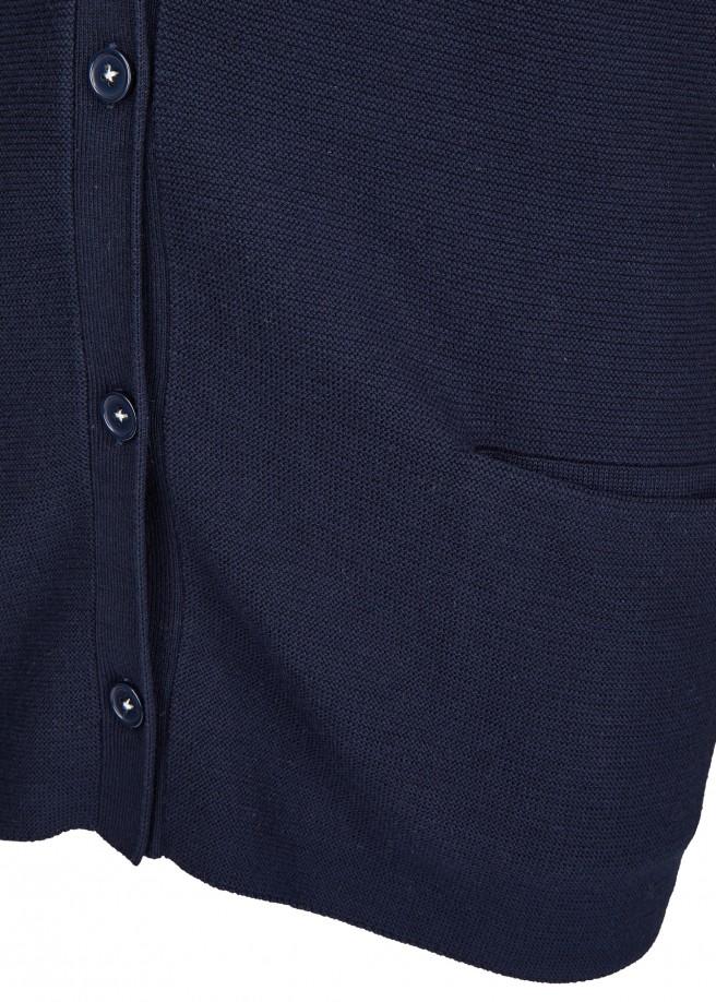 Langärmlige Strickjacke mit Knöpfen und Taschen /