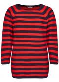 Moderner Pullover mit Streifen /
