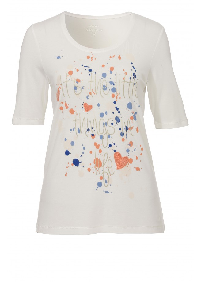 Sommerliches Statement-Shirt mit Muster /