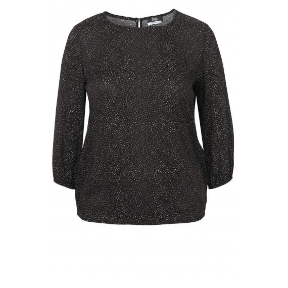 Luftiges Blusen-Shirt mit Tupfenmuster /
