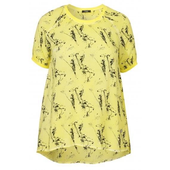 Zartes Blusen-Shirt mit Muster /