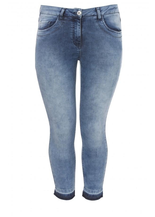 Lässige Jeans mit Farbkontrast /
