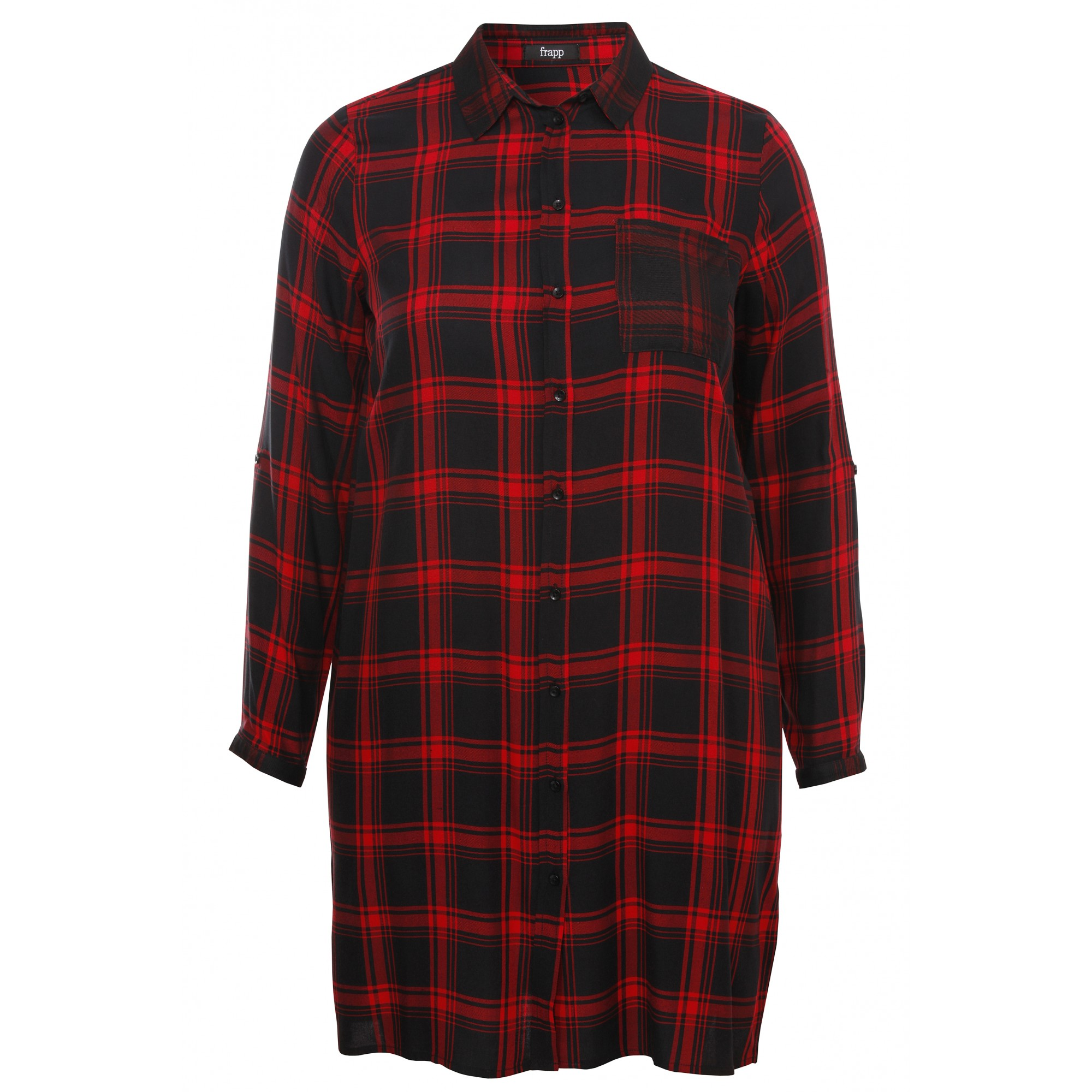 Luftiges Blusen-Kleid mit Karo-Muster