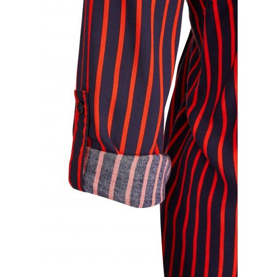 Luftige Bluse mit Streifen /