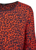 Leichte Bluse mit Leoparden-Print /