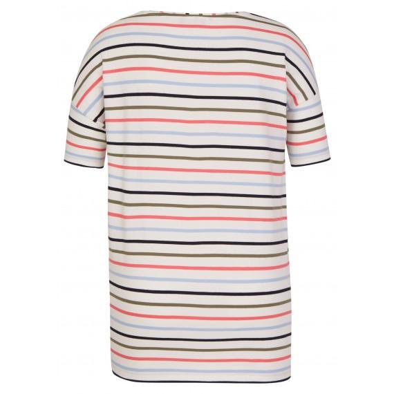 Modernes Ringel-Shirt mit Herzanstecker /
