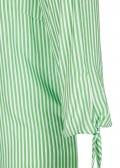 Sommerliche Carmen-Bluse mit Allover-Streifen /