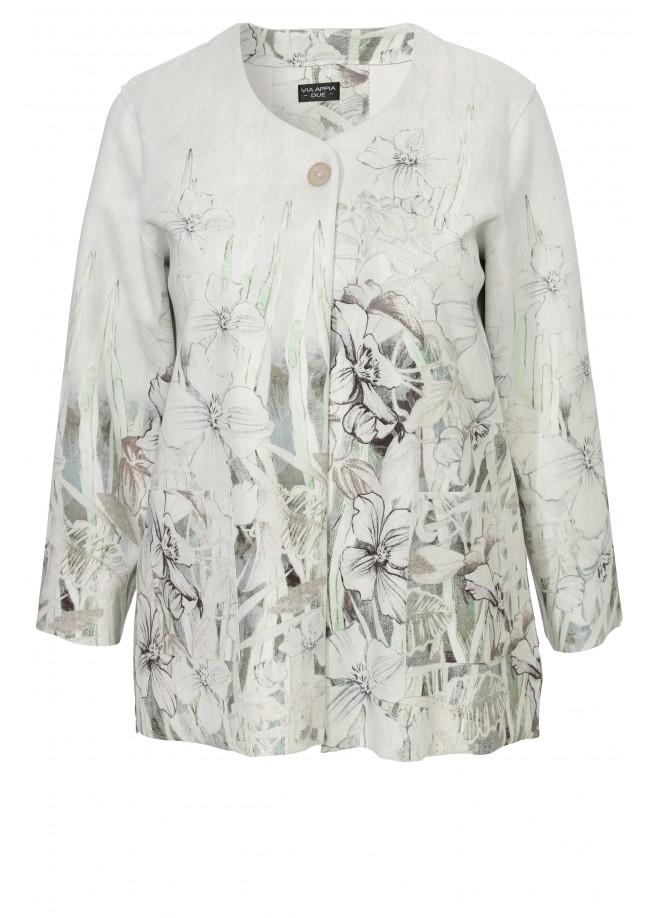 Extravagante Jacke mit floralem Print /