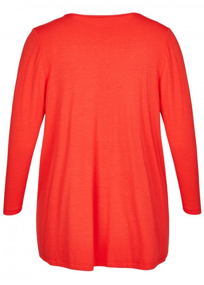 Feminines Shirt mit Raffung /