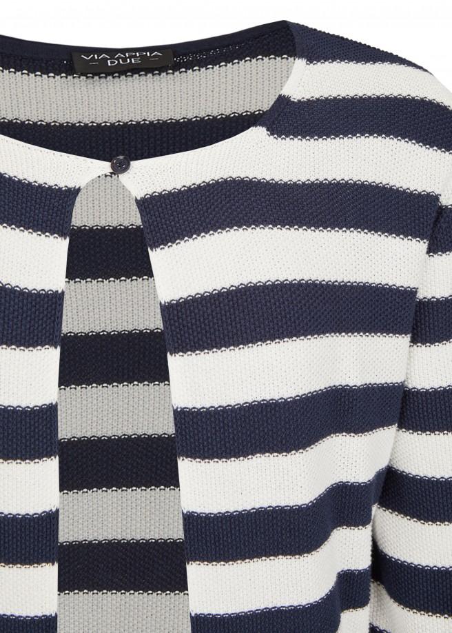 Trendige Strickjacke mit 1-Knopf-Verschluss /