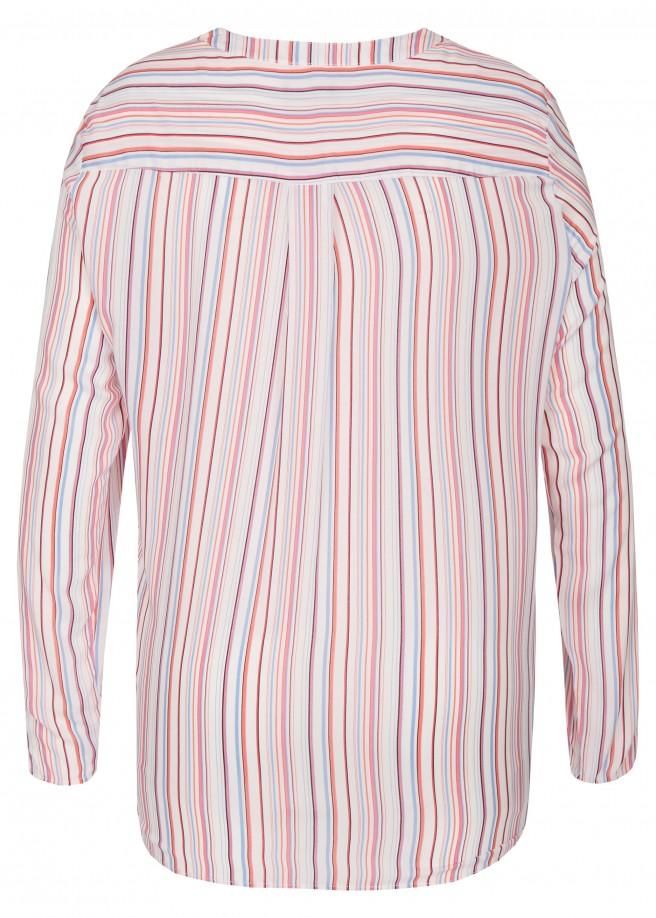 Fröhliche Bluse mit Streifen-Muster /