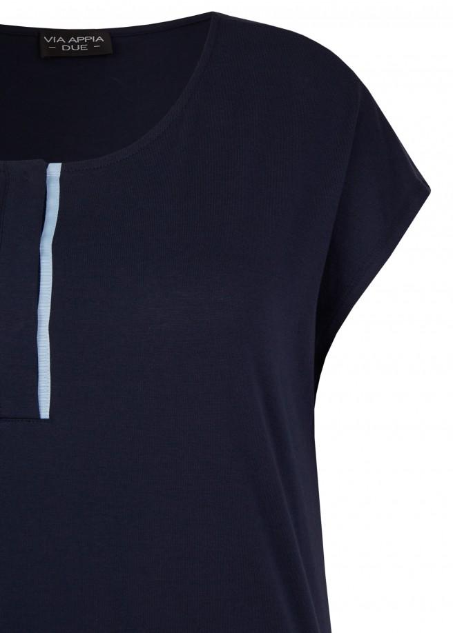 Sportives Shirt mit Knöpfen /