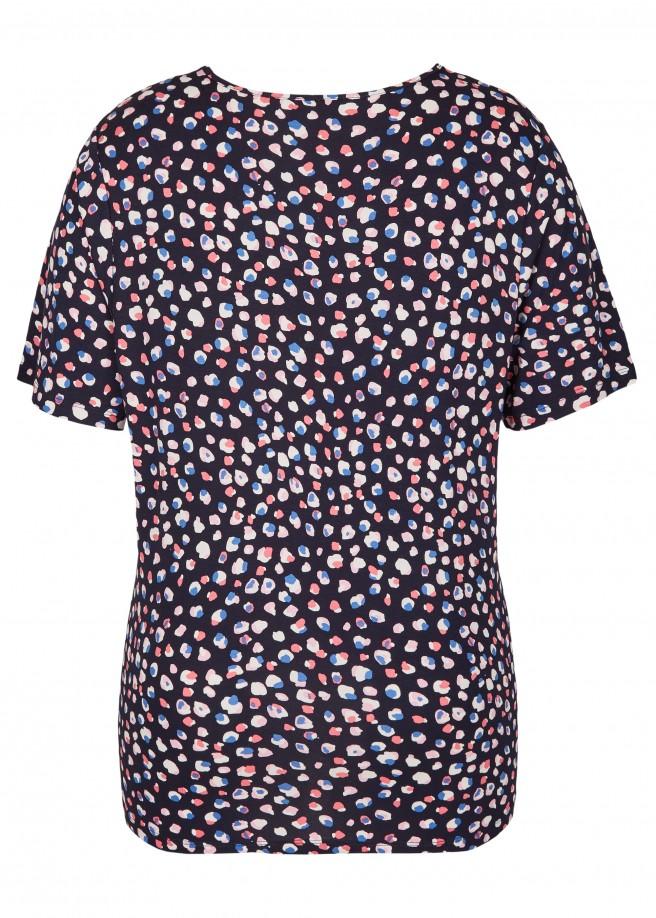 Fröhliches T-Shirt mit Tupfenmuster /