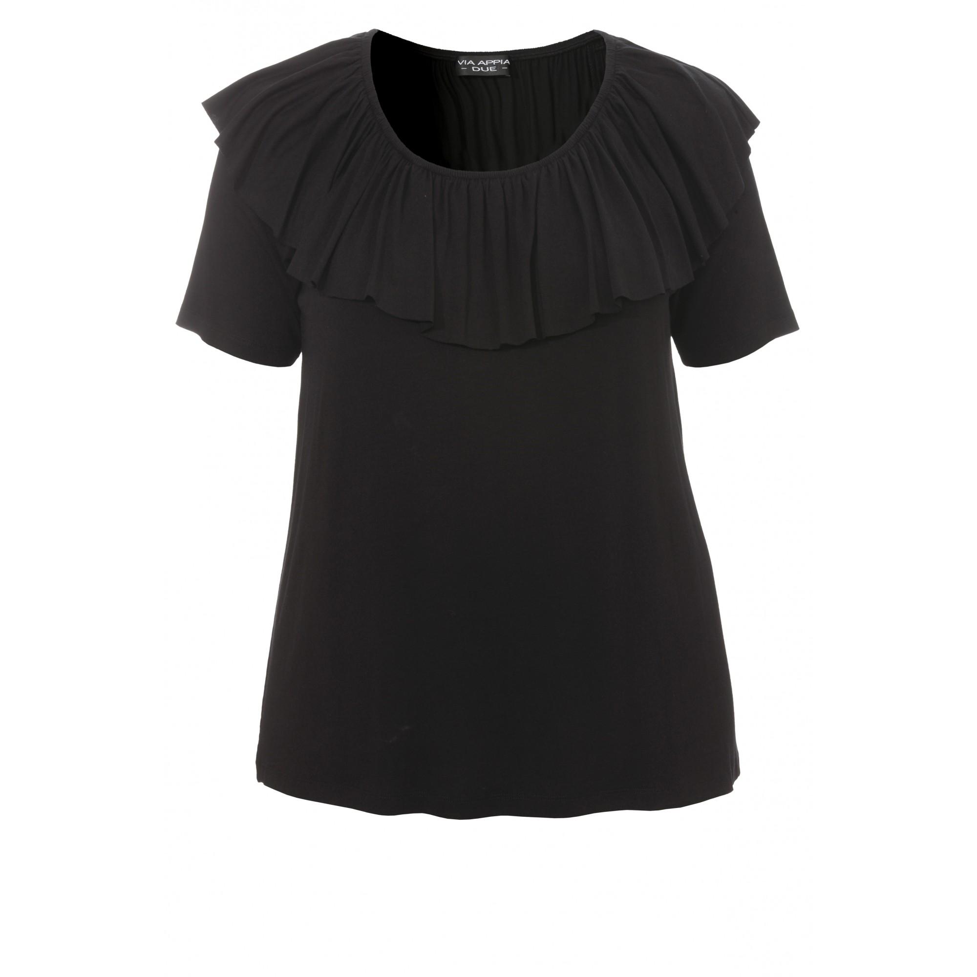 Feminines T-Shirt mit Volants