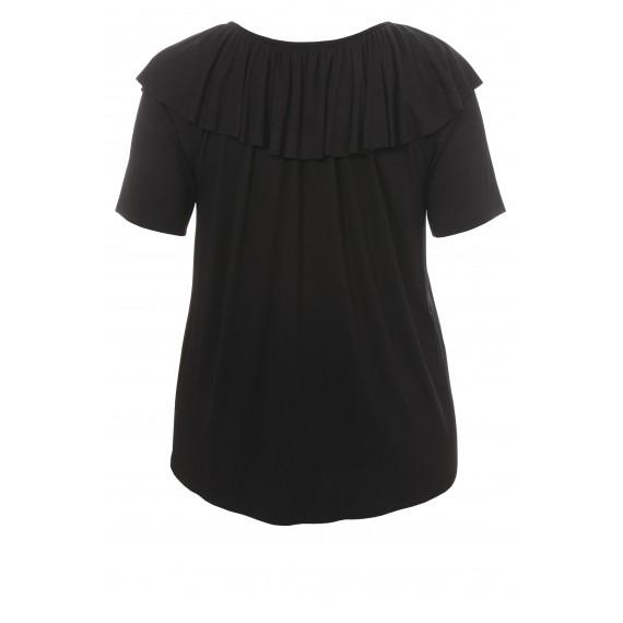 Feminines T-Shirt mit Volants /