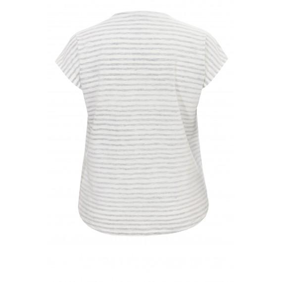 Sommerliches Ringel-Shirt mit Verzierungen /
