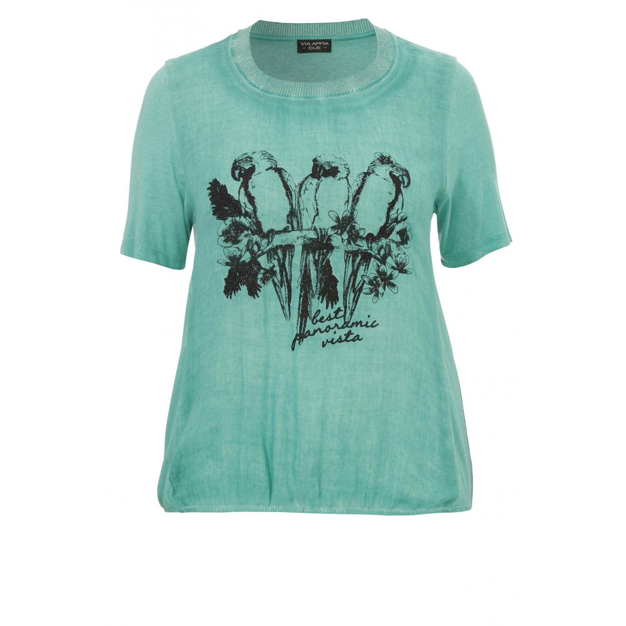 Sommerliches T-Shirt mit Motiv