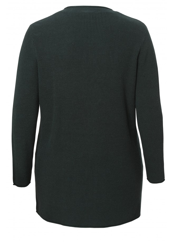 Kuschelige Strick-Jacke mit Knopfverschluss /