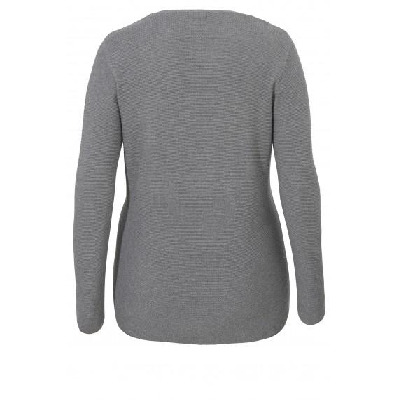 1-Knopf-Jacke mit glänzender Metallfaser /