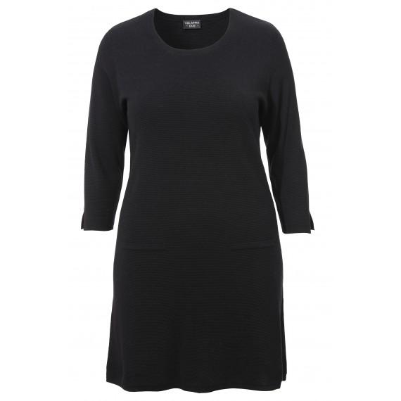 Modisches Strick-Kleid mit 3/4-Ärmeln /