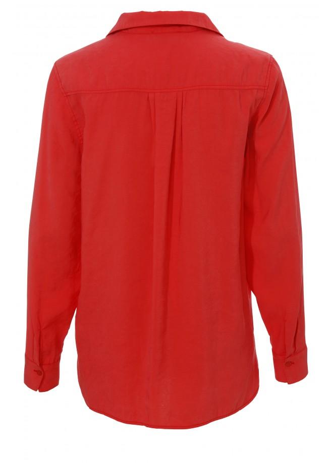 Frische Bluse mit Hemdkragen /