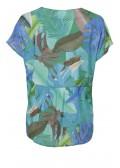 Luftiges Blusen-Shirt mit Dschungelmotiv /