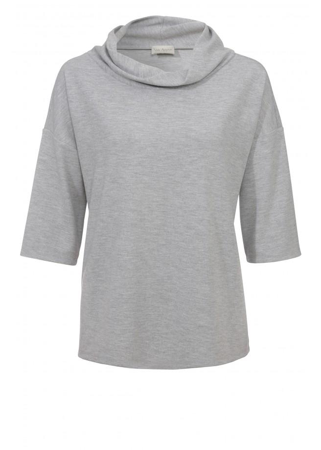 Sportives Sweatshirt mit weitem Rollkragen /
