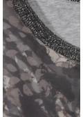 Leichte Bluse mit Animal-Print /