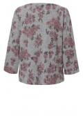 Romantischer Pullover mit Muster /
