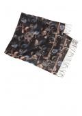 Leichter Schal mit floralem Print /