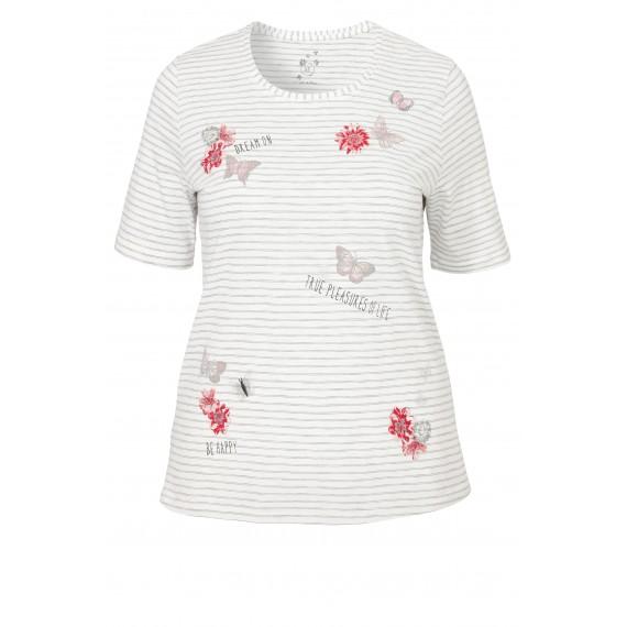 Süßes Ringel-Shirt mit Verzierungen /