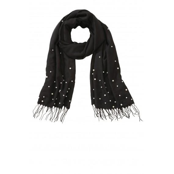 Edler Schal mit Perlen /