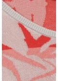 Jacquard-Pullover mit Tropen-Print /