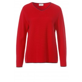 Modischer Pullover mit Kontrast-Details ... 7dac7113e3