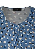3/4-Arm Print-Shirt mit Gummizug-Saum /