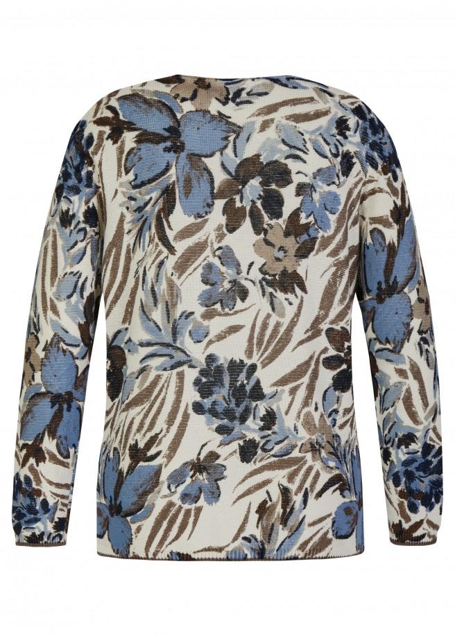 Softer Baumwoll-Pullover mit floralem Print /