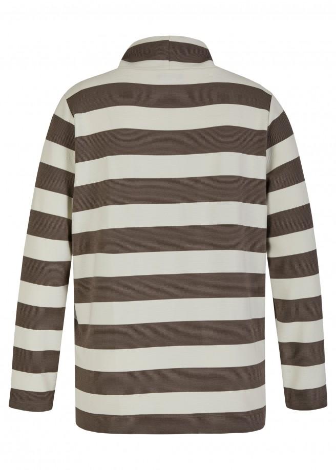 Feines Sweatshirt mit Stehkragen /