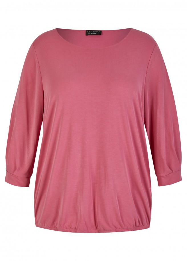 Softes 3/4-Arm Shirt mit Gummizug-Saum Magnolie /
