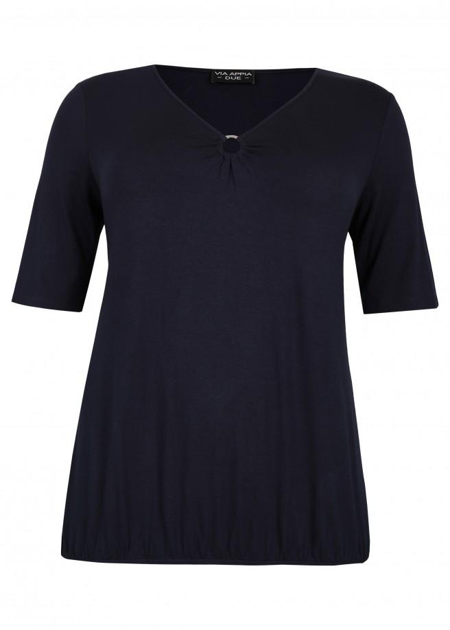 Feminines T-Shirt mit Ausschnitt-Verzierung /