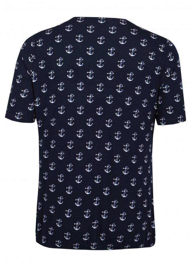 Cooles T-Shirt mit nautischem Allover-Print /