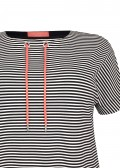 Verspieltes Sweatshirt mit Ringelmuster /