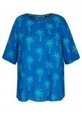 Sommerliche Bluse mit Allover-Palmen-Print /