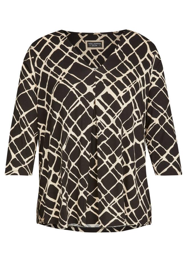 Edles Shirt mit abstraktem Allover-Print /