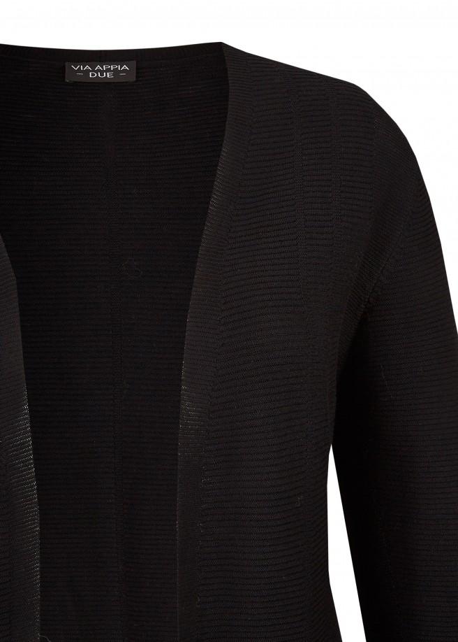 Stilbewusster Cardigan mit Struktur-Streifen /