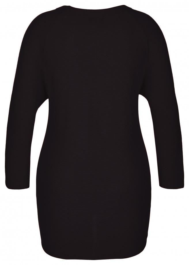 Modischer Pullover mit Strickstruktur /