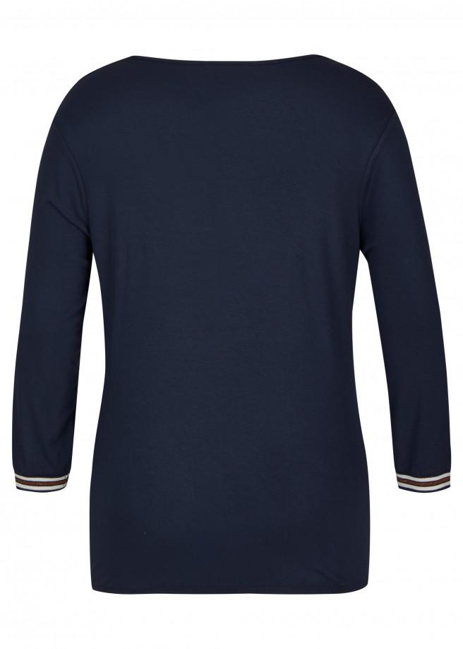 Süßes Shirt mit Lurex-Streifen /