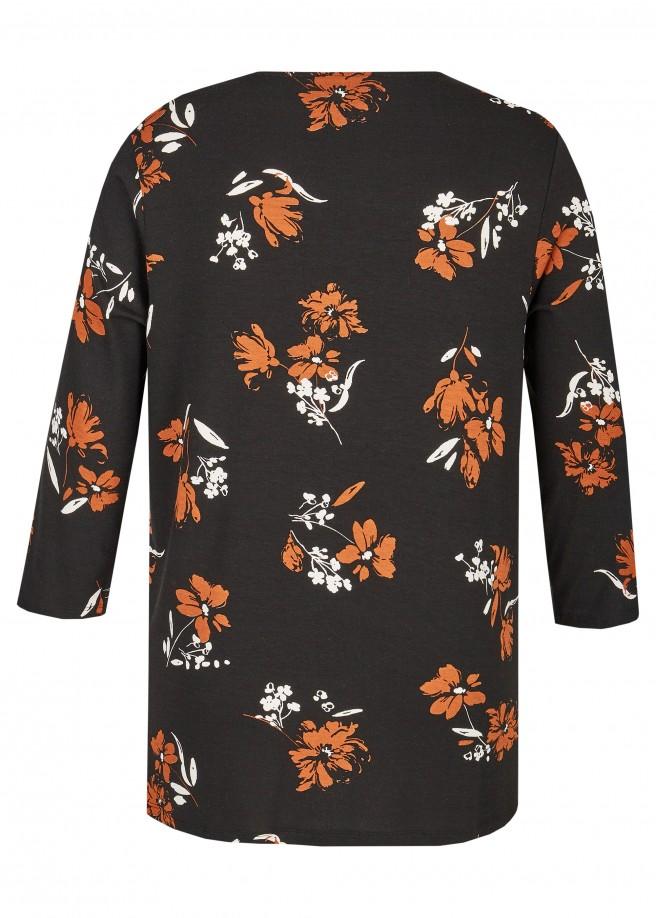 3/4-Arm-Shirt mit floralem Print /